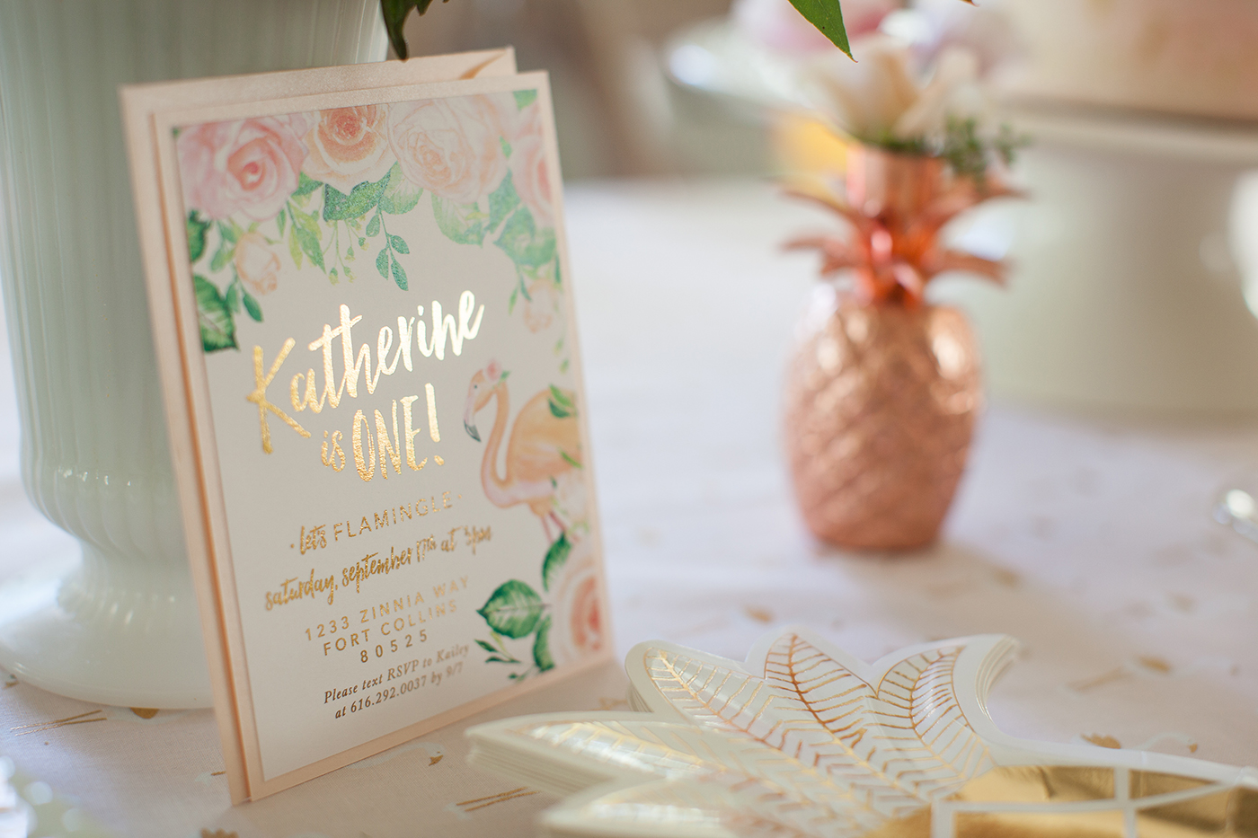 Flamingo and Floral Party Details