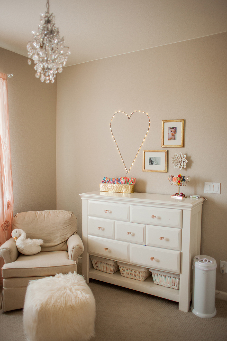 Blush Gold And Floral Inspired Baby Room Kailey Marie