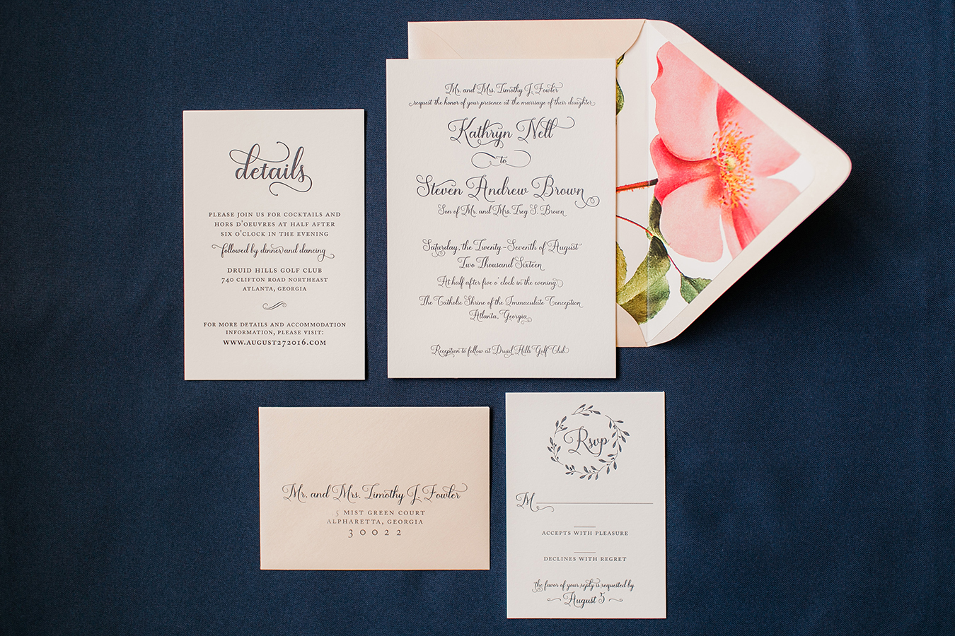 Southern Wedding Invitation - Kailey Marie Designs 1