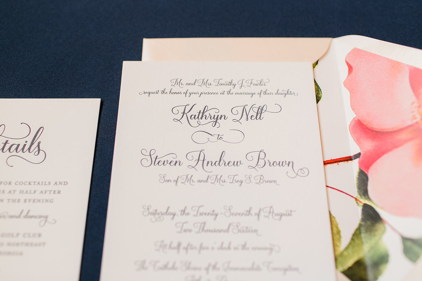 Atlanta Wedding Invitation - Kailey Marie Designs 1