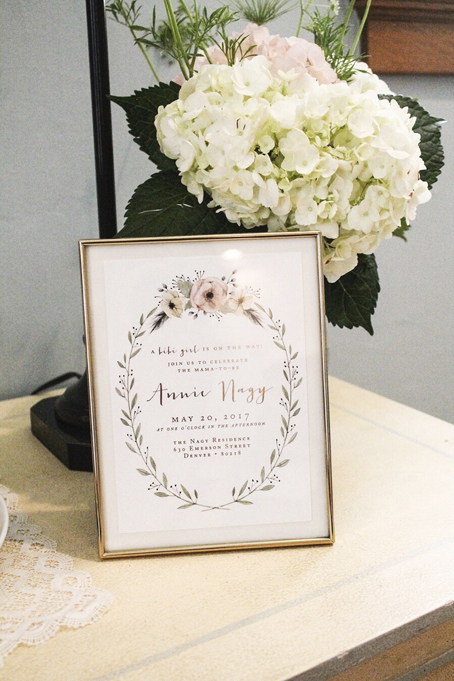 Floral Swan Baby Shower - Kailey Marie Designs