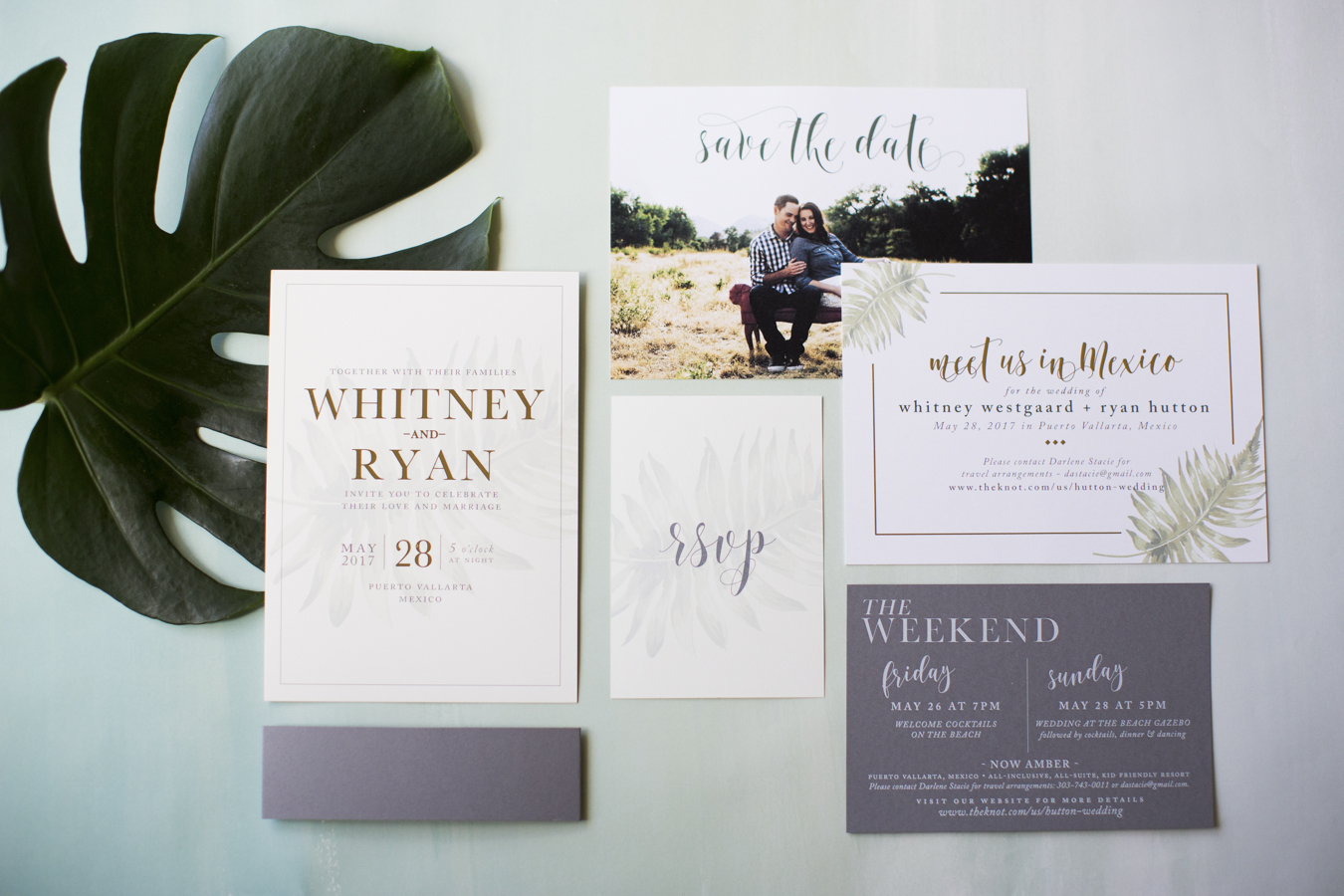 Modern Destination Wedding Invitation | Stationery Design Blog