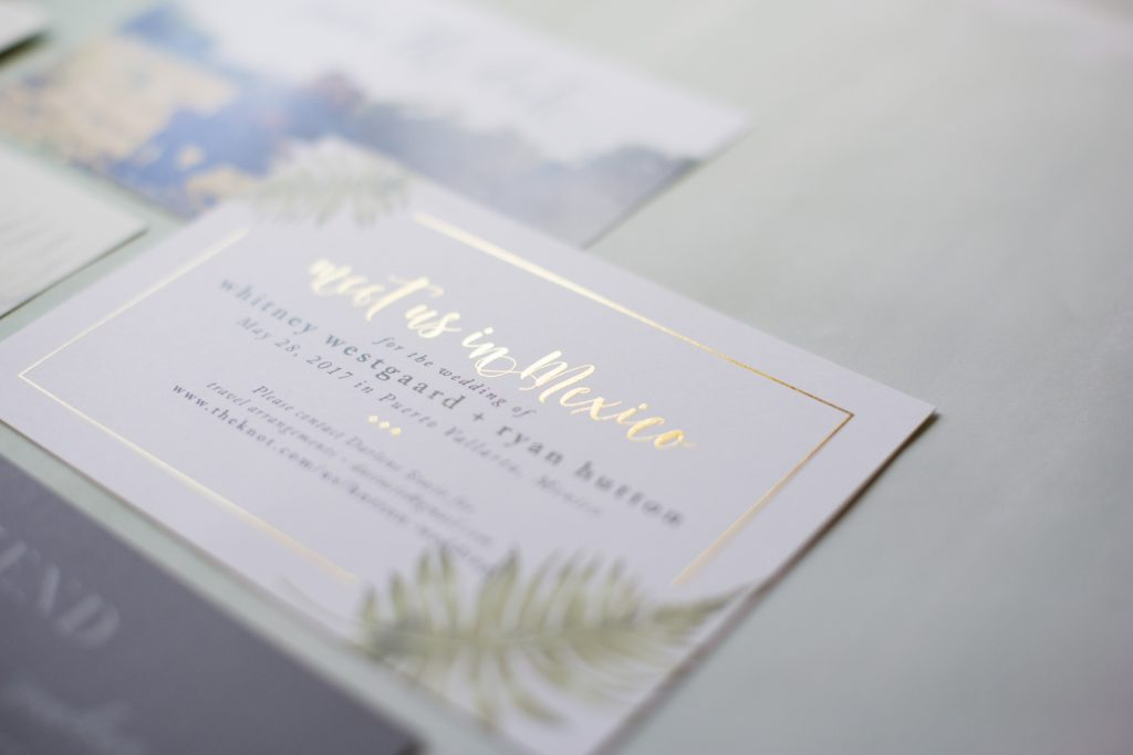 Modern Destination Wedding Invitation-Kailey Marie Designs