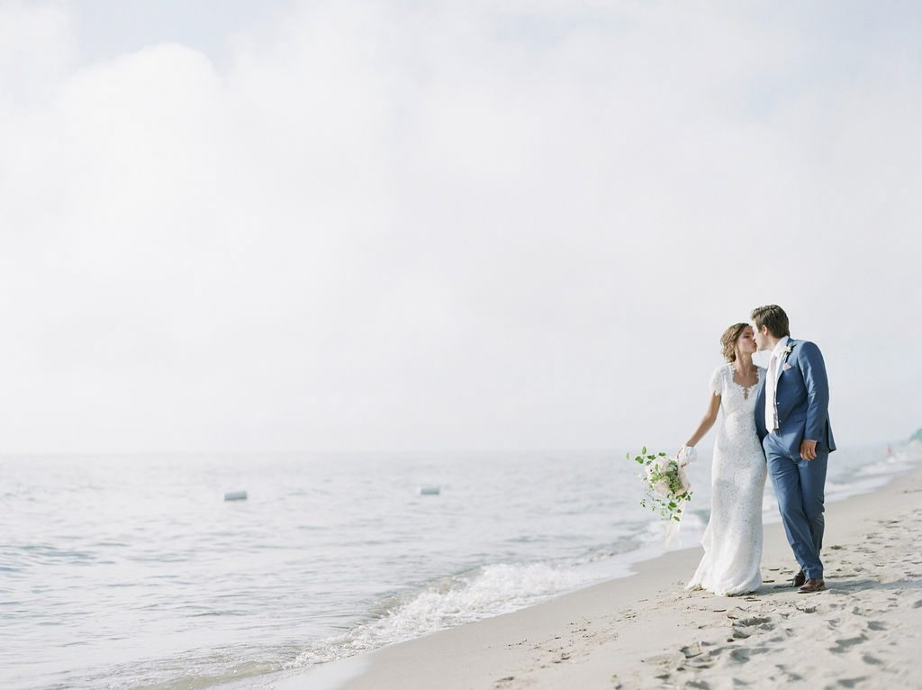 Meg + Zach's Lake Michigan Wedding